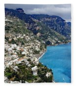 Overall View Of Part Of The Amalfi Coast In Italy Fleece Blanket