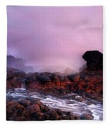 Overcome By The Tides Fleece Blanket