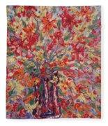 Overflowing Flowers. Fleece Blanket