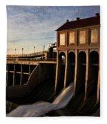 Overholser Dam Fleece Blanket