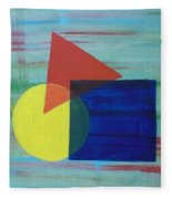 Overlapping Shapes Fleece Blanket