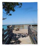 Overlooking Sarasota Bay Fleece Blanket