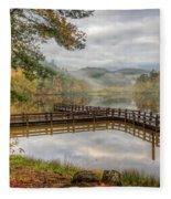 Overlooking The Beauty Of The Lake Fleece Blanket