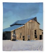 Owasa Barn 4 Fleece Blanket