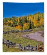 Owl Creek Pass Road Fleece Blanket