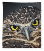 Owl Face To Face Fleece Blanket