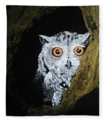 Owl In Tree Fleece Blanket