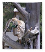 Owl Takeoff Fleece Blanket