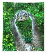 Owll In Flight Fleece Blanket
