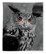 Owls Eye Fleece Blanket