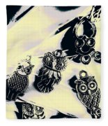 Owls From Blue Yonder Fleece Blanket