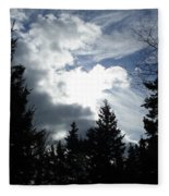 Owls Head Sky Fleece Blanket