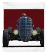 Owner Designed And Built Race Car Fleece Blanket