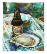 Oyster And Amber Fleece Blanket
