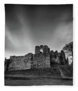 Oystermouth Casle At Mumbles Fleece Blanket