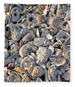 Oysters Shells Fleece Blanket