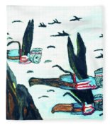 Oz Flying Monkeys  Fleece Blanket