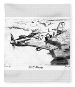 P51d Mustang Fleece Blanket