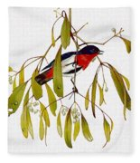 pa TonyOliver AustralianBirds 13 MistletoeBird Tony Oliver Fleece Blanket