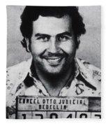 Pablo Escobar Mug Shot 1991 Vertical Fleece Blanket