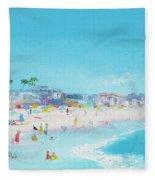 Pacific Beach In San Diego Fleece Blanket