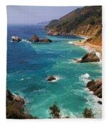 Pacific Coast Blues Fleece Blanket