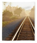 Pacific Coast Starlight Railroad Fleece Blanket