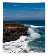 Pacific Coastline Fleece Blanket