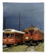 Pacific Electric Trolley, 5115, 316, Long Beach, California Fleece Blanket