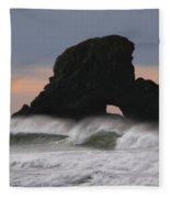 Pacific Northwest Waves Fleece Blanket
