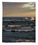 Pacific Ocean After The Storm Fleece Blanket