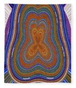Pacific Ocean Oregon View Abstract # 8085wwpct Fleece Blanket