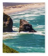 Pacific Ocean Shore Fleece Blanket