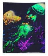 Pacific Pop-art Fleece Blanket