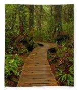 Pacific Rim National Park Boardwalk Fleece Blanket