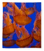 Pacific Sea Nettle Cluster 1 Fleece Blanket