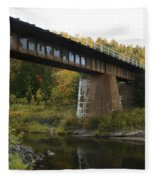 Pack River Bridge Fleece Blanket