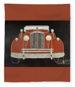 Packard 1937 Red Fleece Blanket