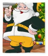 Packers Santa Claus Fleece Blanket