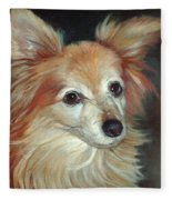 Paco The Papillion Fleece Blanket