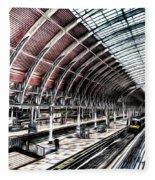 Paddington Station London Sketch Fleece Blanket