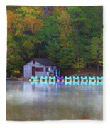 Paddle Boats On The Lake Fleece Blanket