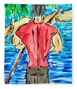 Paddle In Paradise Fleece Blanket