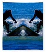 Paddleboarding X 2 Fleece Blanket