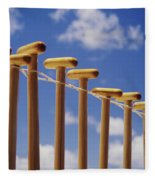 Paddles Hanging In A Row Fleece Blanket