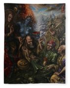 Padmasambhava's Initiation Fleece Blanket