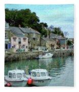 Padstow Harbour - P4a16021 Fleece Blanket
