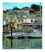 Padstow Harbour Slipway - P4a16023 Fleece Blanket