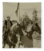 Pageantry In Sepia Fleece Blanket