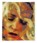 Pain By Mary Bassett Fleece Blanket